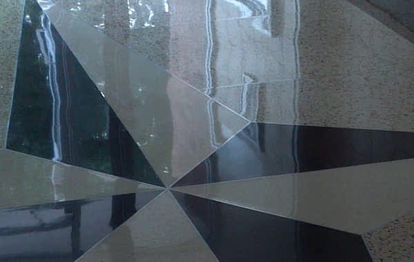 Damaged Terrazzo Floor Restored