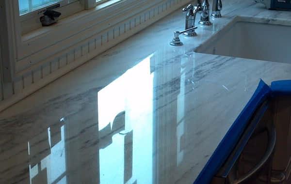 White Quartzite Countertop Repair