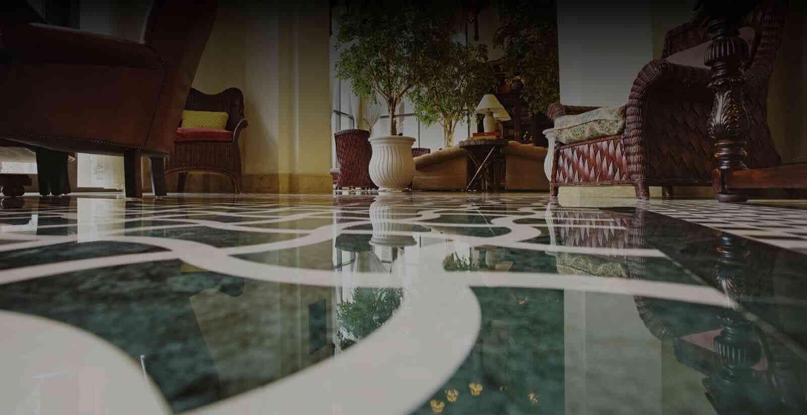 green-marble-floor