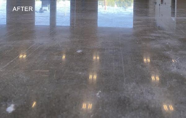 Facility's Worn Concrete Polished